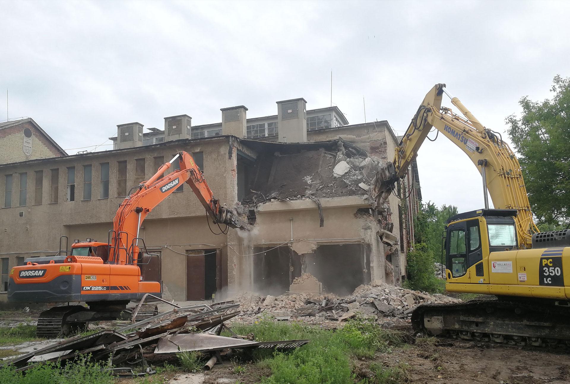 Építmény bontás